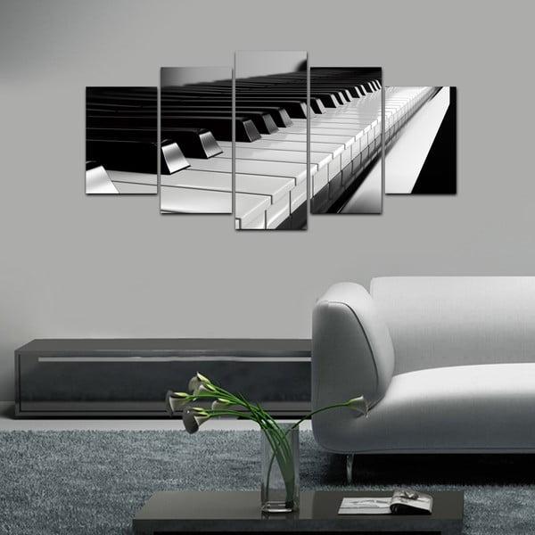 Wieloczęściowy obraz Black&White no. 4, 100x50 cm