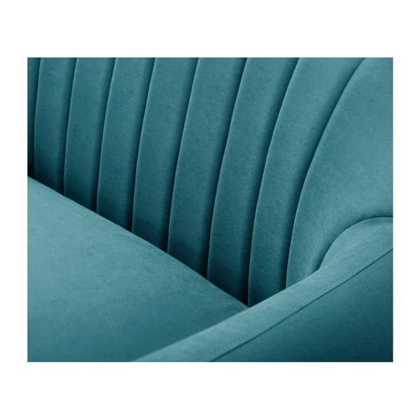 Turkusowozielona sofa 2-osobowa Scandi by Stella Cadente Maison Comete