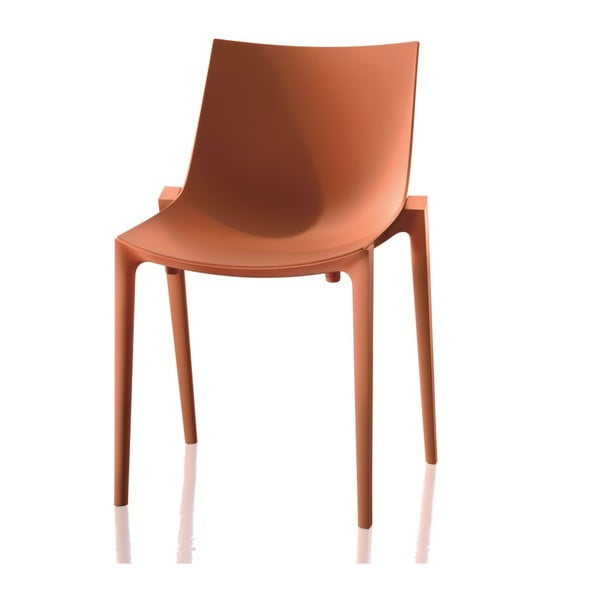 Krzesło Zartan, poamrańczowe