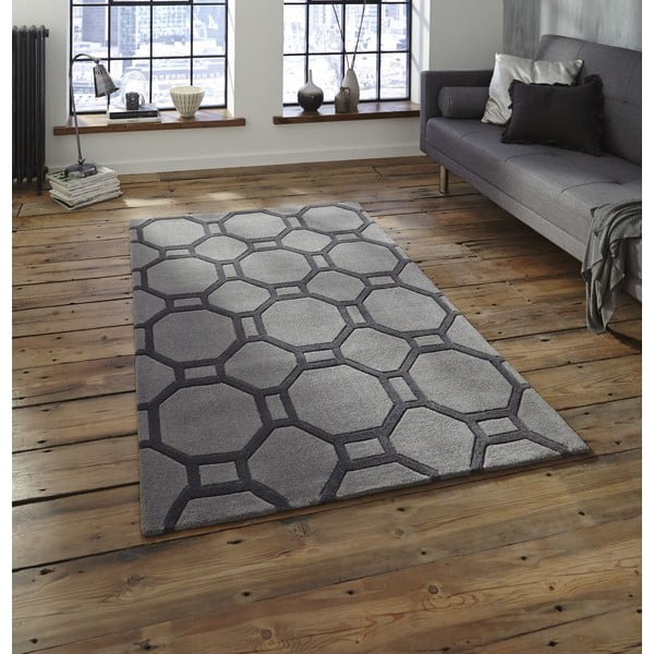 Dywan Tile 90x150 cm, szary