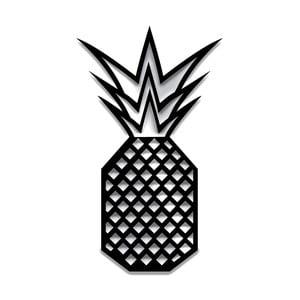 Czarna dekoracja ścienna Dekorjinal Pouff Pineapple, 40x23cm