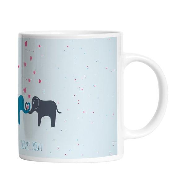 Ceramiczny kubek Elephant Love, 330 ml