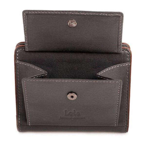 Skórzany portfel Lois Vision, 8,5x10,5 cm