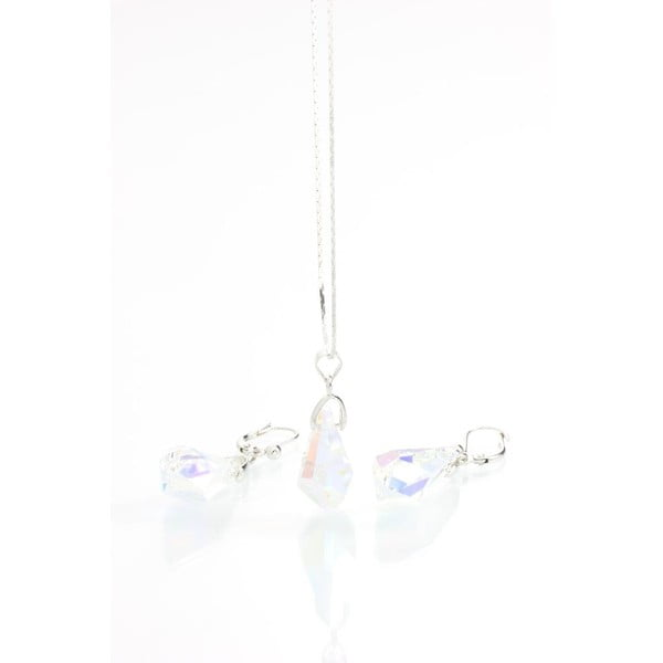 Komplet naszyjnika i kolczyków z kryształami Swarovskiego Yasmine Simplicity