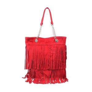 Skórzana torebka Marianne, czerwona