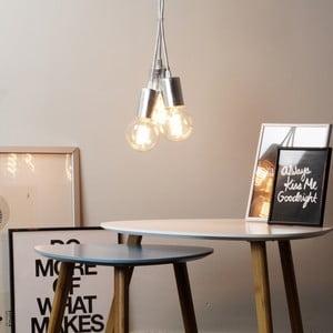 Lampa wisząca potrójna Cero, srebrny/biały/srebrny