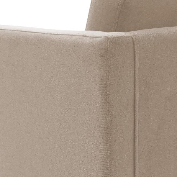 Bezowa sofa dwuosobowa z naturalnymi nogami Vivonita Sondero