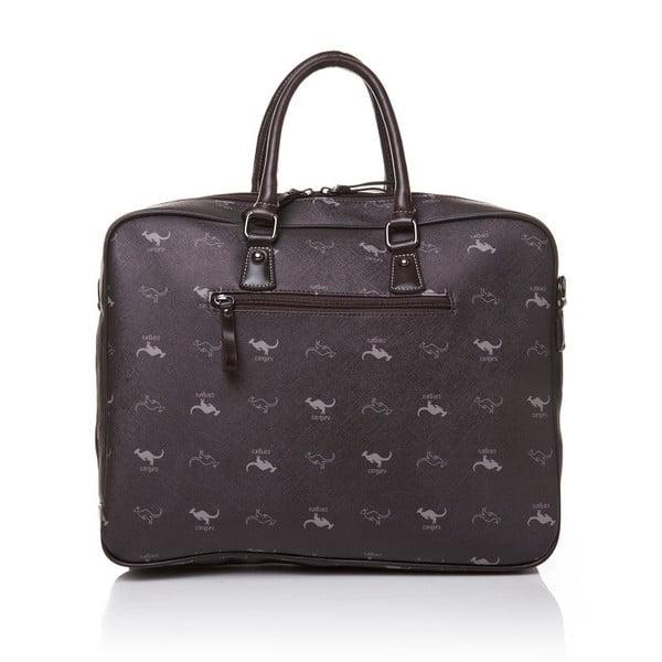 Skórzana torebka do ręki Canguru Louis, brązowa
