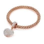 Damska bransoletka w kolorze różowego złota Runaway Esmeralda