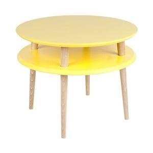 Stolik kawowy UFO 45x57 cm, żółty