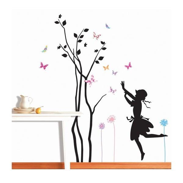 Naklejka Ambiance Young Girl And Tree