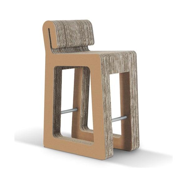 Barowe kartonowe krzesło Hook Stool