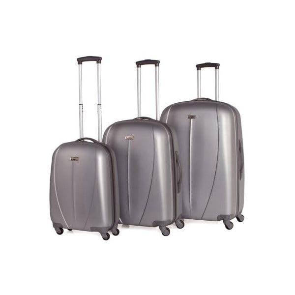 Zestaw 3 walizek Tempo Plata