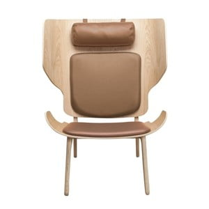 Brązowy fotel NORR11 Mammoth Slim