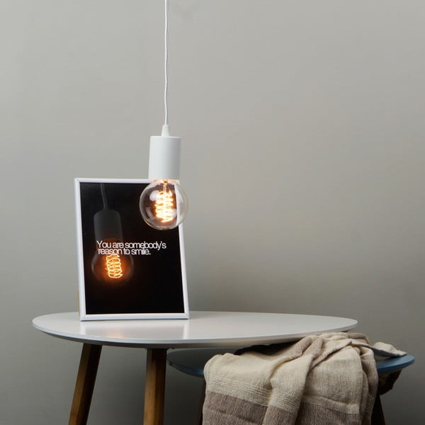 Biała lampa wisząca Bulb Attack Cero