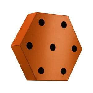 Stojak na wino Hexagon, pomarańczowy