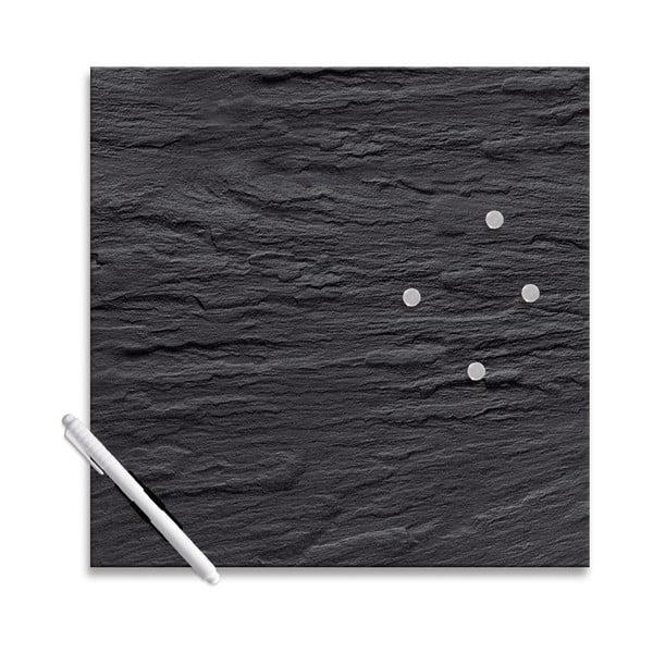 Tablica magnetyczna Eurographics Black Slate, 30x30 cm