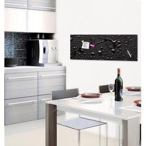 Tablica magnetyczna Eurographic Black Rain, 30x80 cm