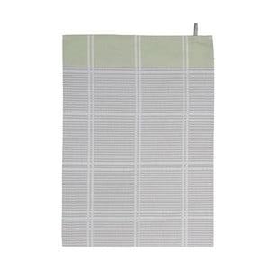 Zielono-szara ścierka kuchenna Södahl Check, 50x70 cm