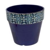 Niebieska doniczka Soho And Deco Geometrico