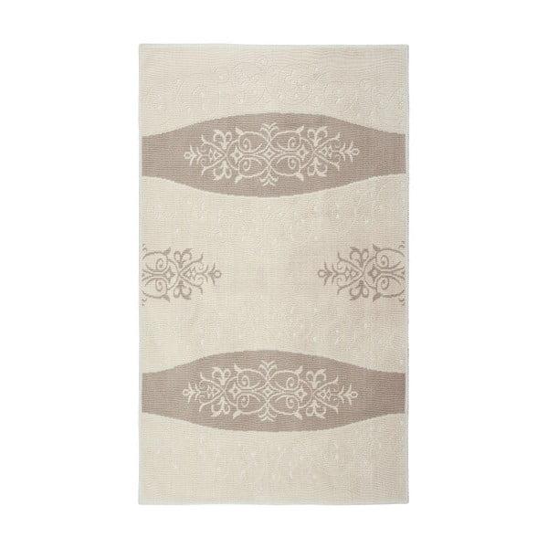 Kremowy dywan bawełniany Floorist Decor, 80x300cm