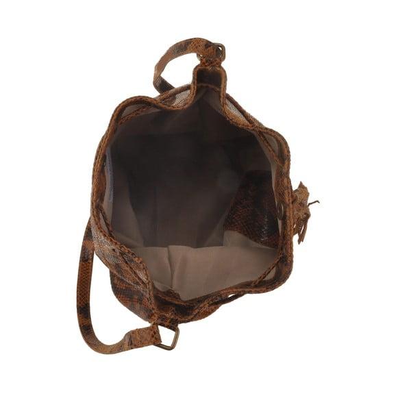 Skórzana torebka Zosca, brązowa