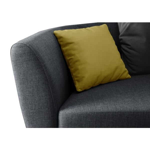 Sofa trzyosobowa z oparciem po lewej stronie Viotti Light Anthracite/Yellow