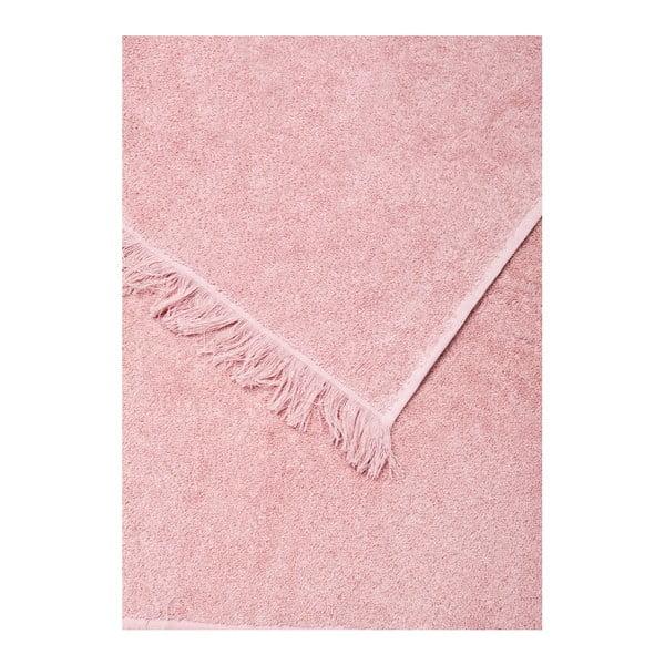 Zestaw 2 różowych ręczników i 2 ręczników kąpielowych Casa Di Bassi Bath