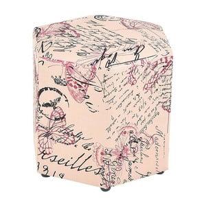 Podnóżek/taboret Pink Butterfly