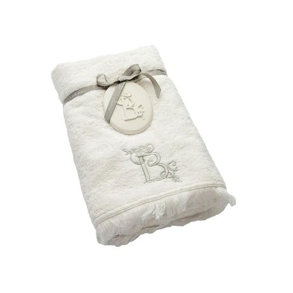 Ręcznik z inicjałem B, 50x90 cm