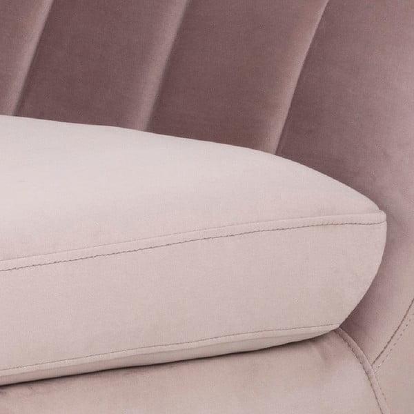 Różowa 3-osobowa sofa Actona Doria