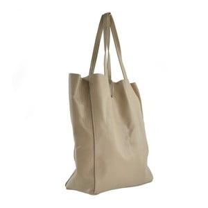 Beżowa torebka skórzana Siro