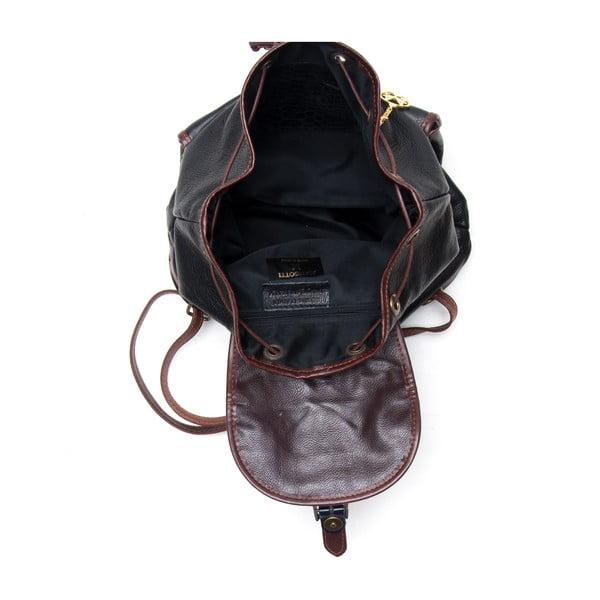 Skórzany plecak Mangotti 2038, czarny