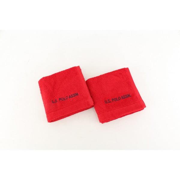 Komplet 2 ręczników Towel US Polo Wash Red, 30x50 cm