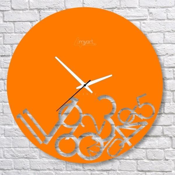 Zegar ścienny Orange Confusion