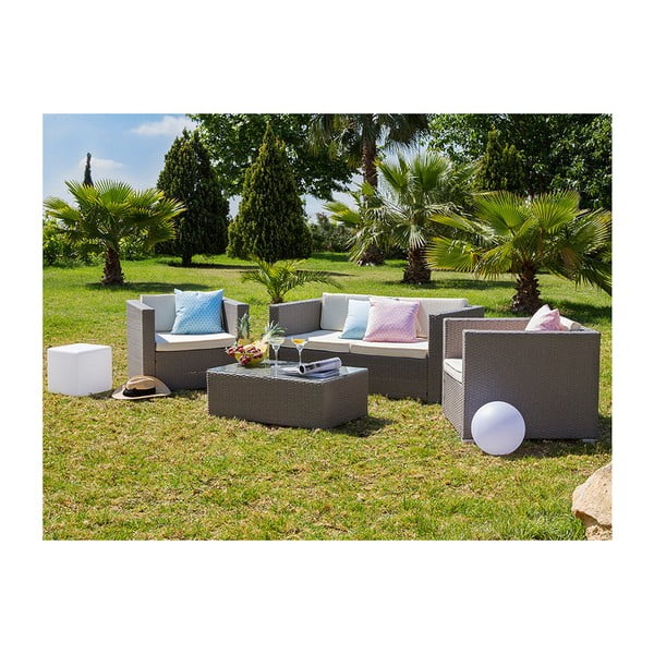 Komplet 4 mebli ogrodowych ze sztucznego rattanu Santiago Pons Vart