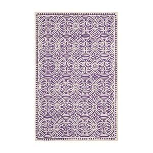 Wełniany dywan Marina Purple, 152x243 cm