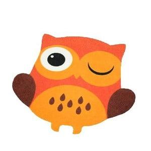 Dywan Owls - pomarańczowa sowa, 66x66 cm