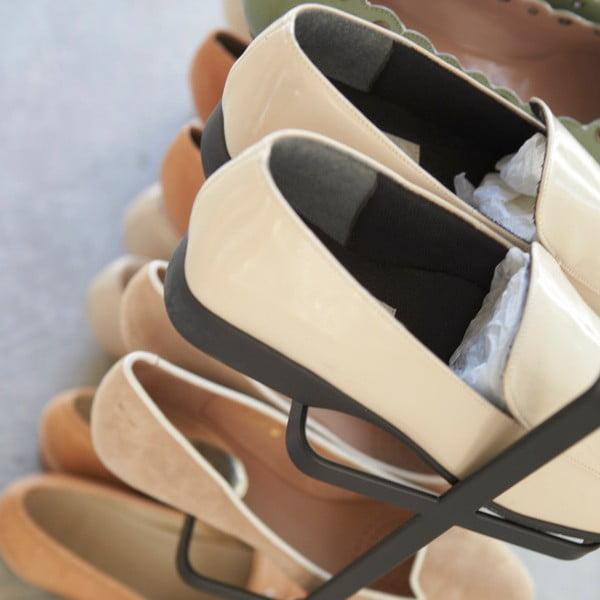 Czarna szeroka półka na buty Yamazaki Tower Yamazaki Shoe Rack