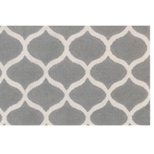 Srebrny dywan wełniany Bakero Alize, 140x200 cm