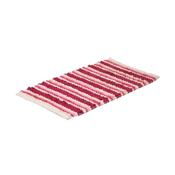 Dywanik łazienkowy Raspberry Stripe, 50x80 cm