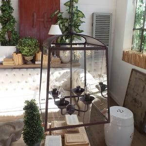 Lampa wisząca Orchidea Milano Antique Rusty, 4 światełka