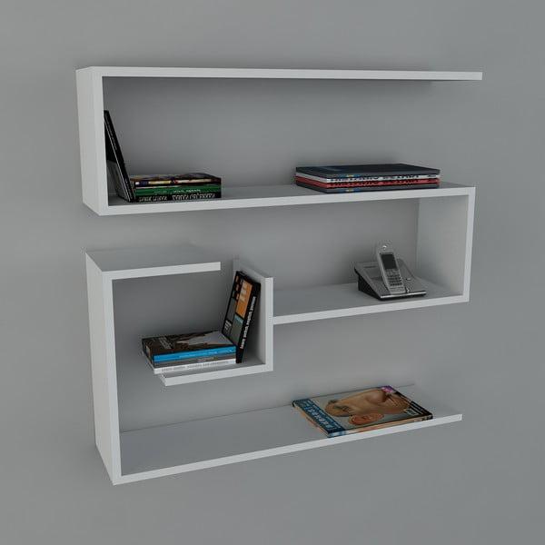Półka Confier Book White, 22x90x87 cm