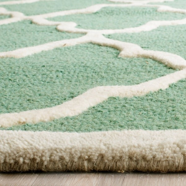 Dywan wełniany Safavieh Noelle Forest, 91x152 cm