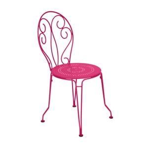 Różowe krzesło metalowe Fermob Montmartre
