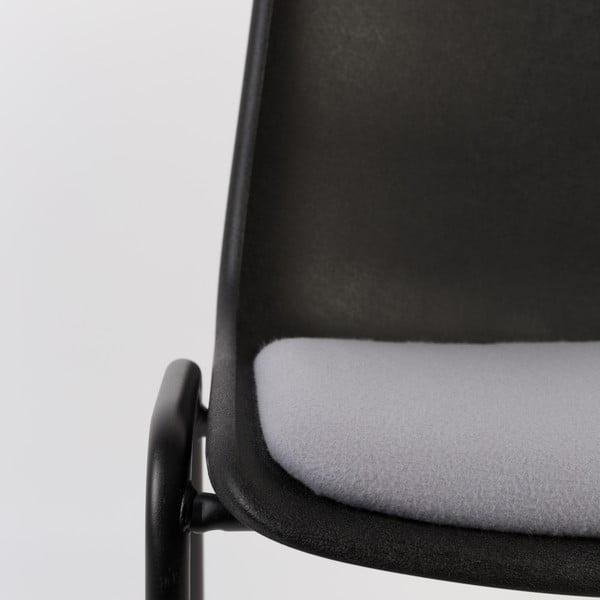 Krzesło Back to Gym, czarno-szare