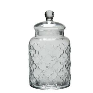 Szklany pojemnik Jar Flower, 27 cm