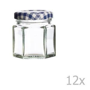 Zestaw 12 szklanych słoików Kilner Hexagonal, 48ml