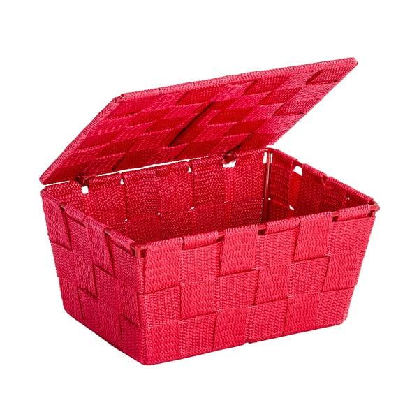 Czerwony koszyk zamykany Wenko Adria