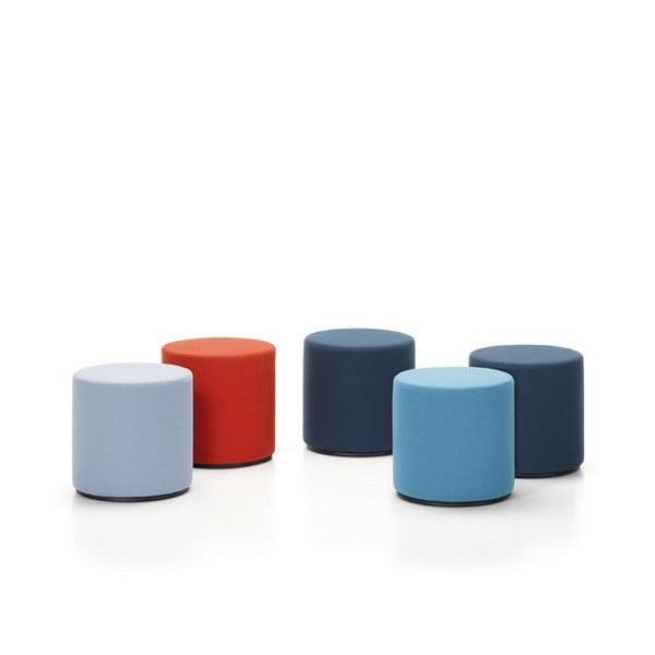 Jasnoniebieski mały puf Softline Drum Small